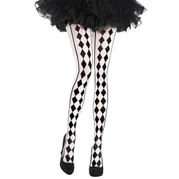 Harlequin Adults Tights Black & White (Coming Soon)